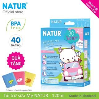 Hộp Túi Trữ Sữa NATUR 120ml 40 túi tặng 1 chăn em bé.