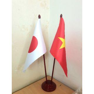 Đế cắm cờ đôi để bàn Việt – Nhật