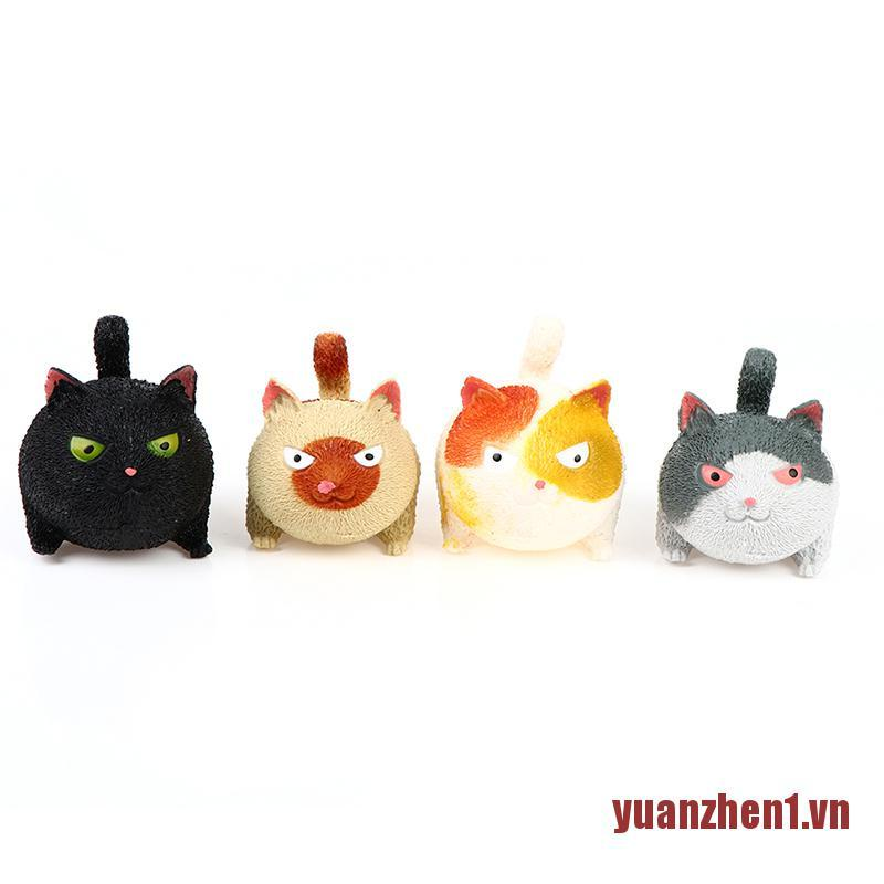 YUANEN Angry Cats Squeeze Anti Stress Relief Doll Ball Animal Hand Desk Cute Toys
