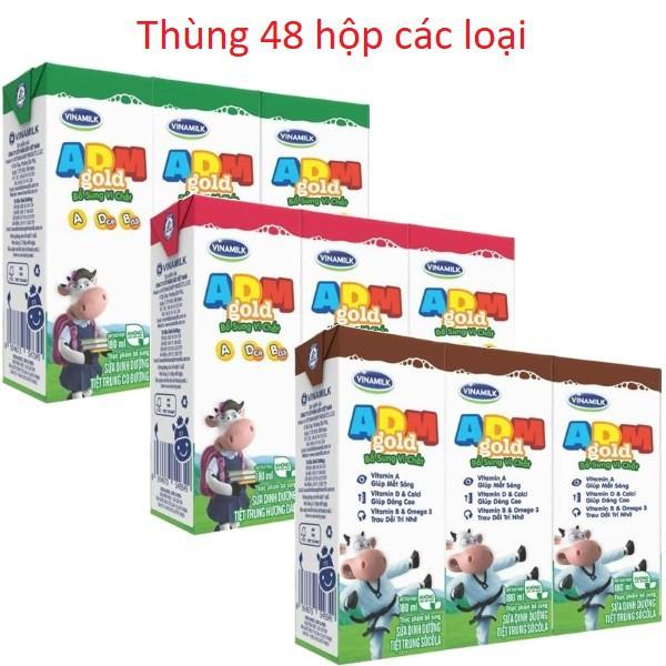 Sữa tiệt trùng Vinamilk ADM Gold 180ml các loại - Có đường / Dâu/ Sô cô la