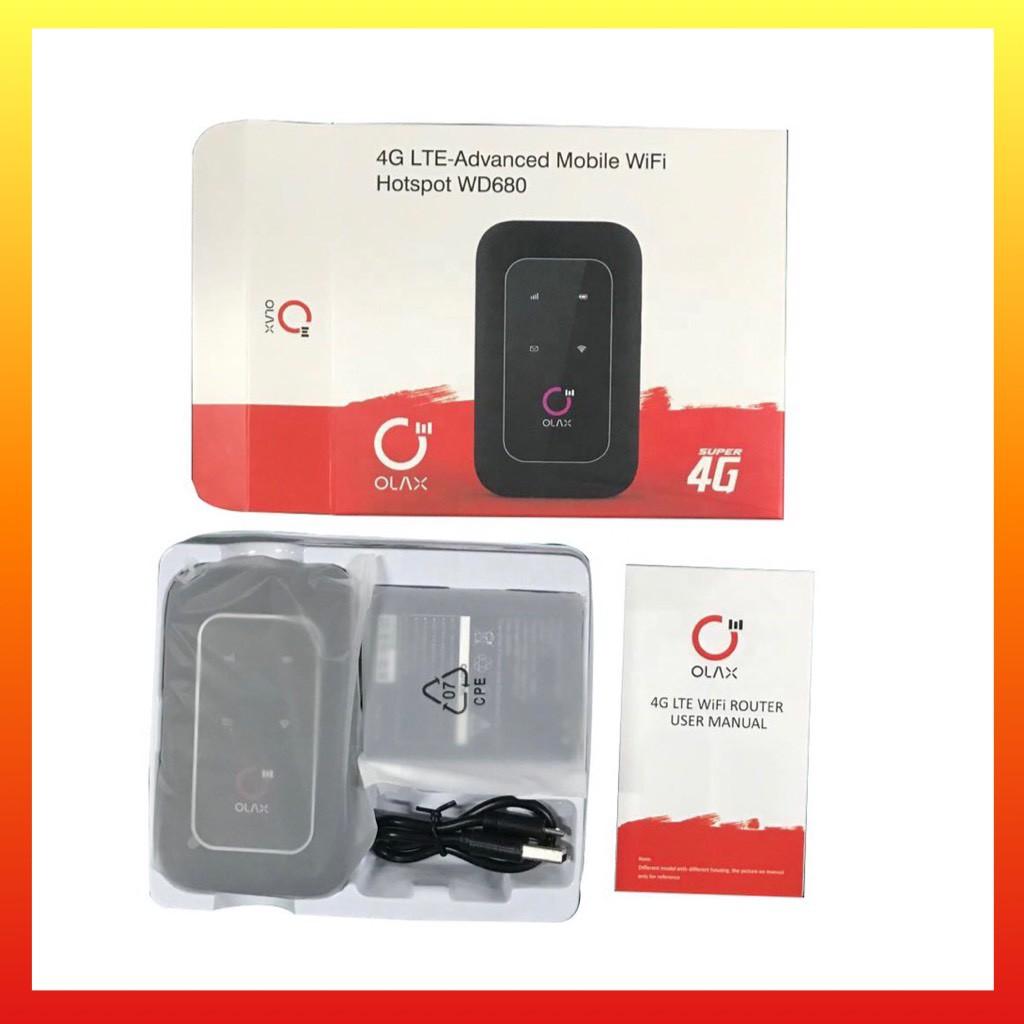 Phát wifi LTE 4G Olax Wd680 Đa Mạng BF-01B- chất lượng Châu Âu Hỗ Trợ Nhiều Thiết Bị
