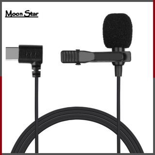 MoonStar Lapel Clip-on Microphone for Android Mobile Phone Live Type-C Recording Mic