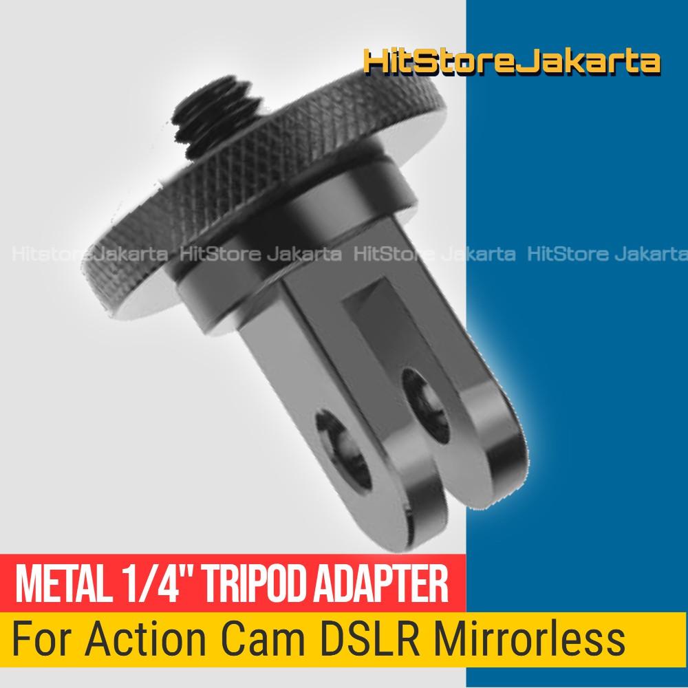 Bộ Chuyển Đổi Chân Máy Ảnh Ba Chân Mini Bằng Kim Loại Cho Gopro Yi Dslr Bpro Sjcam Action Camera Insta360
