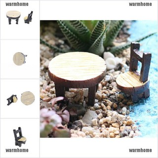 warmhome Floral Table Chairs Miniature Landscape Garden Decoration Dollhouse Accessories thro