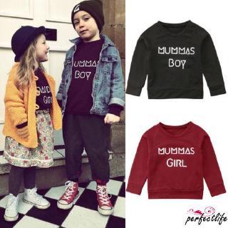★HZLBaby Girl Boy Mummys Boy Girl Long Sleeve Sweatshirt Casual Cotton Coat Pullover Tops