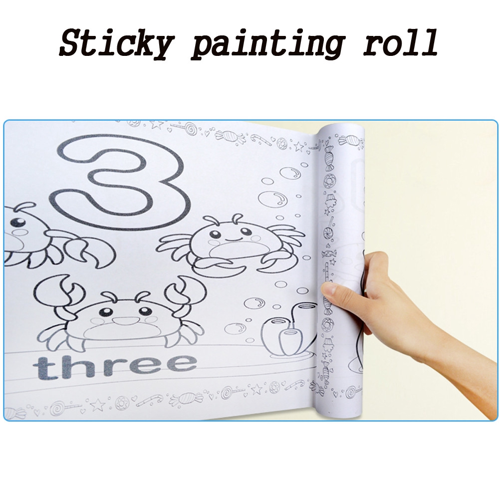 【COD】😺 Wonderful Drawing Paper Wallpaper Preschool Graffiti DIY Drawing Set