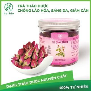 Trà Nụ Hoa Hồng Herbio - chống lão hóa, hỗ trợ làm đẹp da, sáng da, giảm cân - hộp 50gr thumbnail