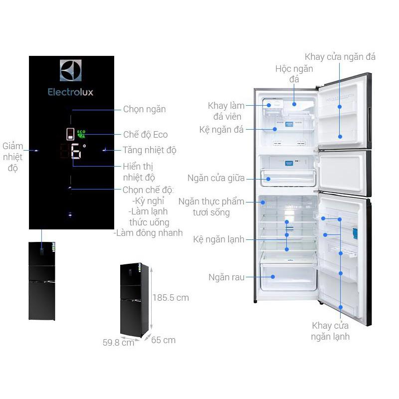 Tủ lạnh 3 cánh Electrolux EME3500BG - 350L Inverter