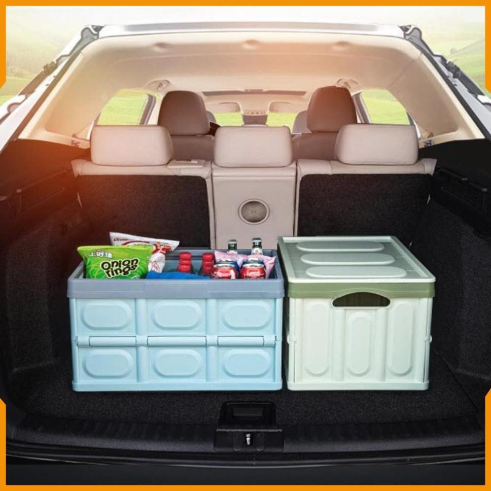 Hộp đựng đồ tiện dụng có thể gập gọn chịu sức nặng đến 56kg để đồ cốp sau ô tô - Better Car
