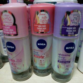 Lăn ngăn mùi NIVEA SERUM giúp dưỡng trắng chuyên sâu 40ml