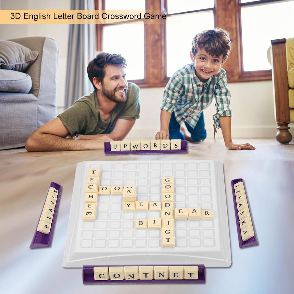 Crossword Game Words Building Puzzle Kids Educational Toy
