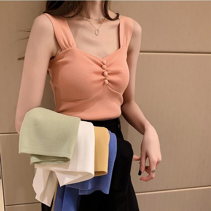 Mặc gì đẹp: Đẹp hơn với Mới Áo Dệt Kim Hai Dây Thời Trang Xuân Hè