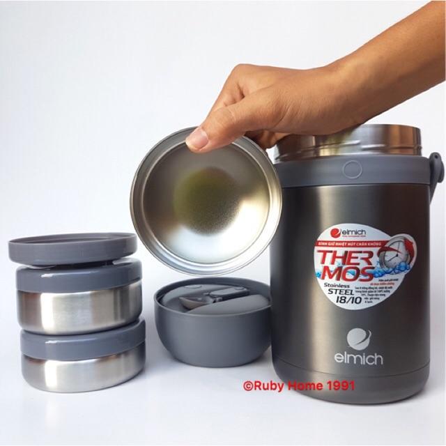 Hộp cơm/ Bình giữ nhiệt đựng thức ăn Elmich EL3128 1800 ml - Nhập khẩu Séc 100%