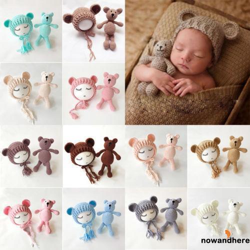 VNE-Sweet Cute Newborn Baby Girls Boys Photography Prop Crochet Knit Costume