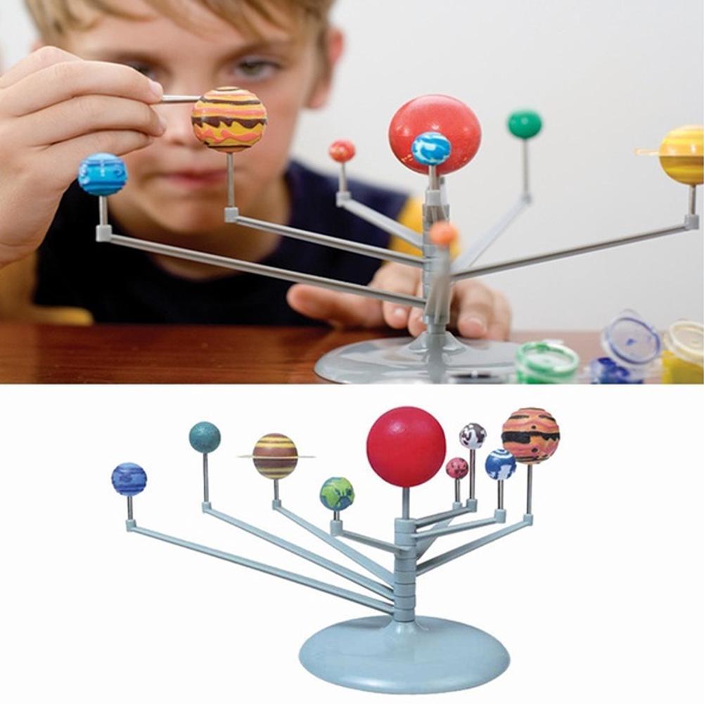 Solar System Planets Nine Planetary Assemble Kids Children'S Toy Sets DIY