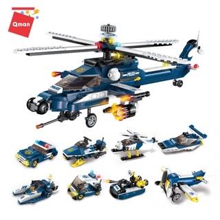 [GIẢM SỐC] Bộ xếp hình lego Qman enlighten 1801 Máy bay trực thăng