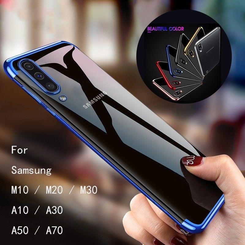 Ốp điện thoại silicone TPU mềm cho Samsung Galaxy A70/ A50/ A60/ A40/ A30/ A20/ A10/ A80/ A90