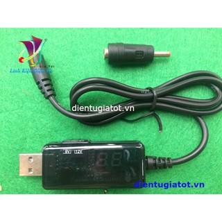 Cáp nâng áp từ cổng USB 5V lên 9V và 12V dùng cho wifi