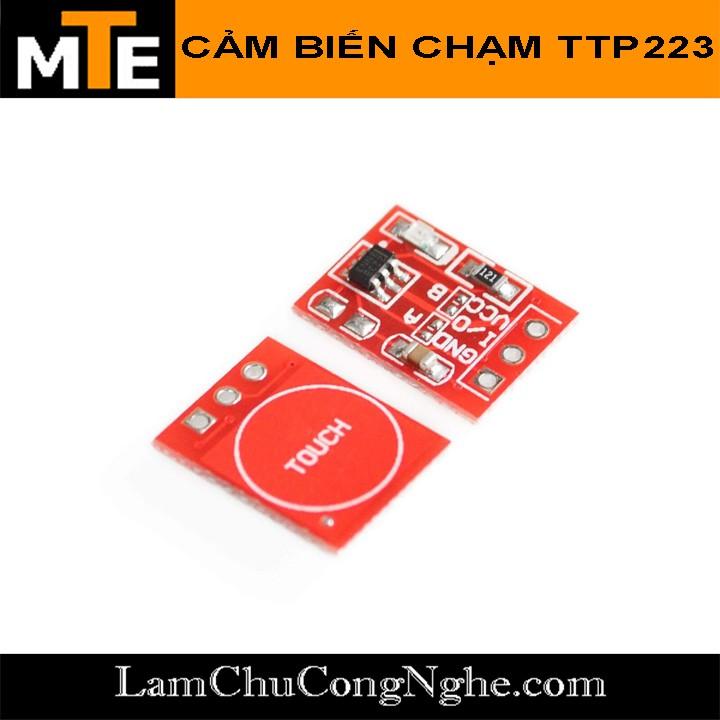 Module nút cảm biến chạm TTP223 đỏ - Touch sensor cảm ứng điện