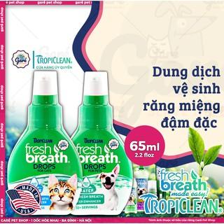 Nước vệ sinh răng miệng ngăn ngừa Mảng Bám, Mùi Hôi, Cao Răng Chó Mèo đậm đặc- FRESH BREATH BY TROPICLEAN DROPS FOR CATS thumbnail