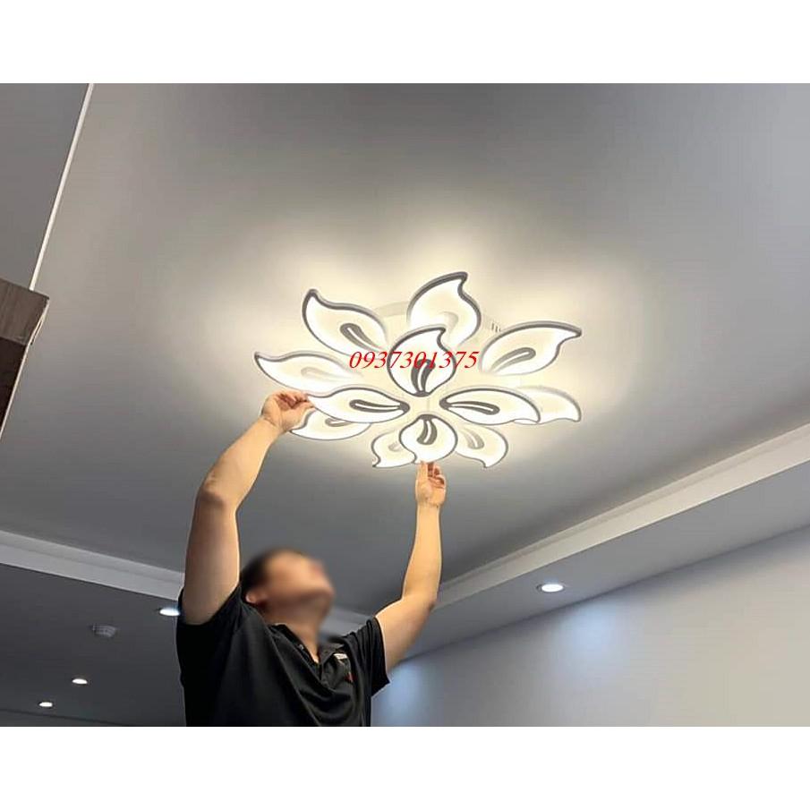 Đèn Ốp Trần LED Hiện Đại Trang Trí Phòng Khách TT20-Có Điều Khiển Từ Xa Phân Tầng-Bảo Hành 2 Năm