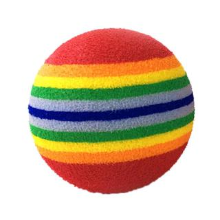 3.5cm Colorful Lovely Funny EVA Cat Rainbow Ball Toy For Training Pet Cat's Interact Chewing Scratch