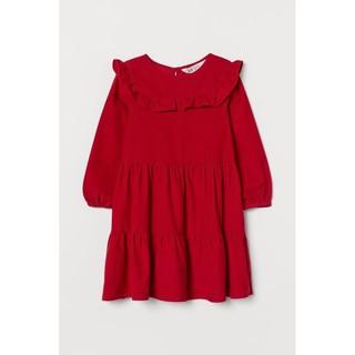 váy HM nhung  đỏ đô