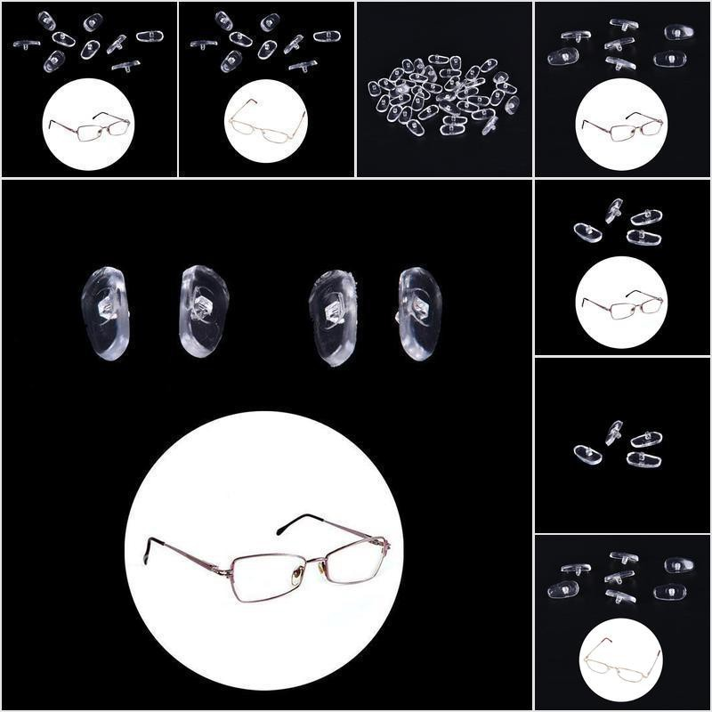 【COD•nobe】50 Pairs Screw-On Oval Silicone Nose Pads for Glasses Eyeglass New,
