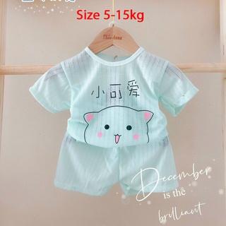 Bộ cotton giấy cộc tay, ngắn tay màu cho bé trai, bé gái, hàng loại 1, size 4-15kg BR63