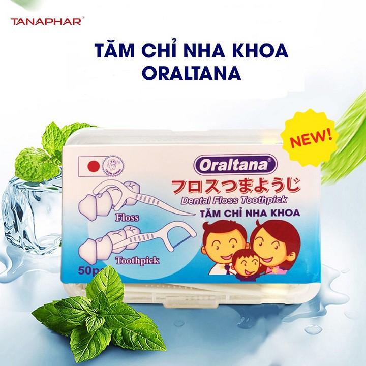 Tăm chỉ nha khoa Oraltana hộp 50 cái