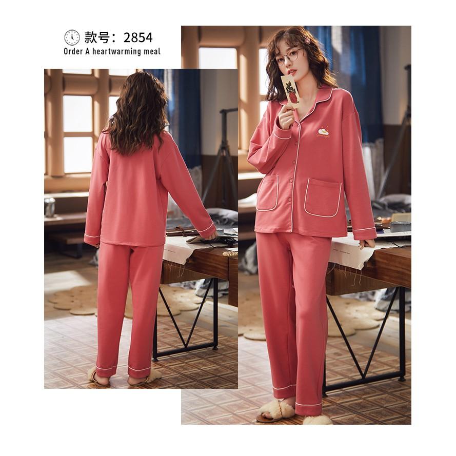 Mặc gì đẹp: Mát mẻ với Bộ Đồ Ngủ Pajamas Cotton Dài Tay Thời Trang 2020 Cho Nữ