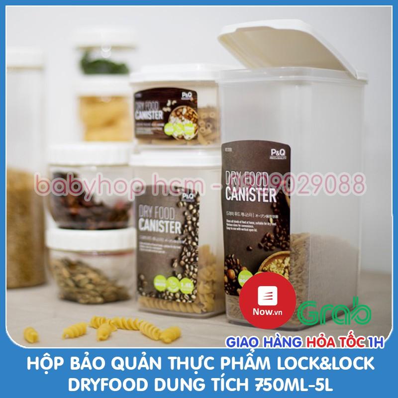 Hộp bảo quản thực phẩm Lock&Lock Dry Food P-1735 (750ml) P-1736 (1.6L) P-1737 (2.4L) P-1738 [3.2L] P-1739 [5L] Hàng P&Q