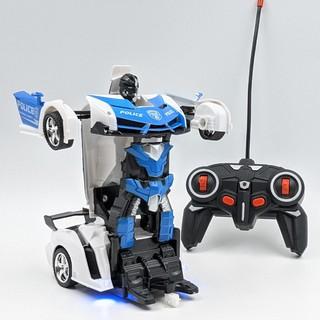 Xe Cảnh sát lamboghini điều khiển biến hình Robot siêu ngùa – Robot biến hình – js010