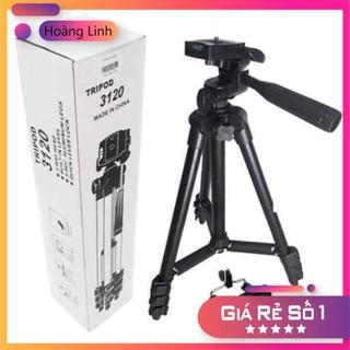 Giá 3 chân quay phim, livestrem Tripod điện thoại, máy ảnh 3120 sơn đen
