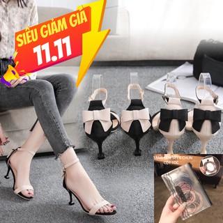 Giày cao gót 5 phân phối nơ gót chân cực đáng yêu