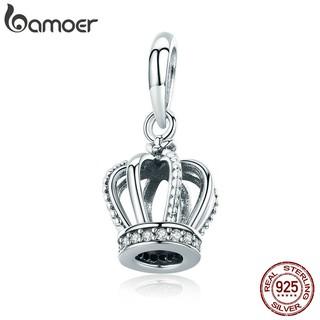 Mặt dây chuyền Bamoer mạ bạc hình vương miện độc đáo
