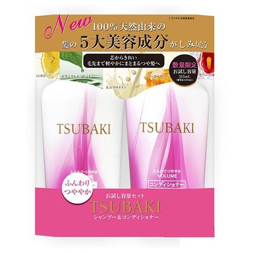 Bộ đôi gội xả bồng bềnh chắc khỏe Tsubaki Botanical (450ml/chai)