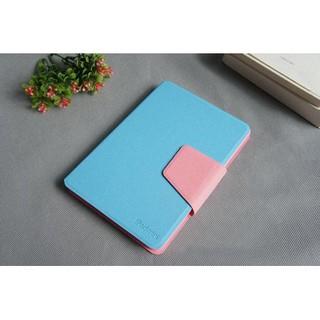 Bao da Ipad Mini 1 2 3 TLC Nice Color (Xanh phối hồng)