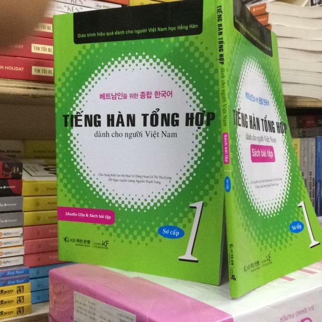 Tiếng hàn tổng hợp dành cho người Việt nam - trình độ sơ cấp tập 1( có CD )gồm sách + bài tập