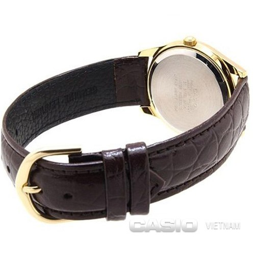 Đồng hồ nữ Casio LTP-1094Q-9ARDF Dây da - Mặt kim vàng