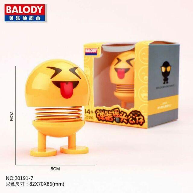 Emoji Lò Xo Lắc Đầu Đồ Chơi Giải Trí Mua Vui Trang Trí Xe Hơi, Bàn Làm Việc