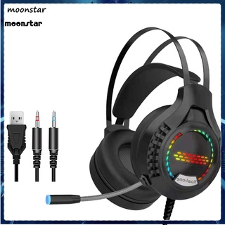 MS Elastic Wired Headphone Noise Reduction Game Headphone Comfortable Wearing for Desktop