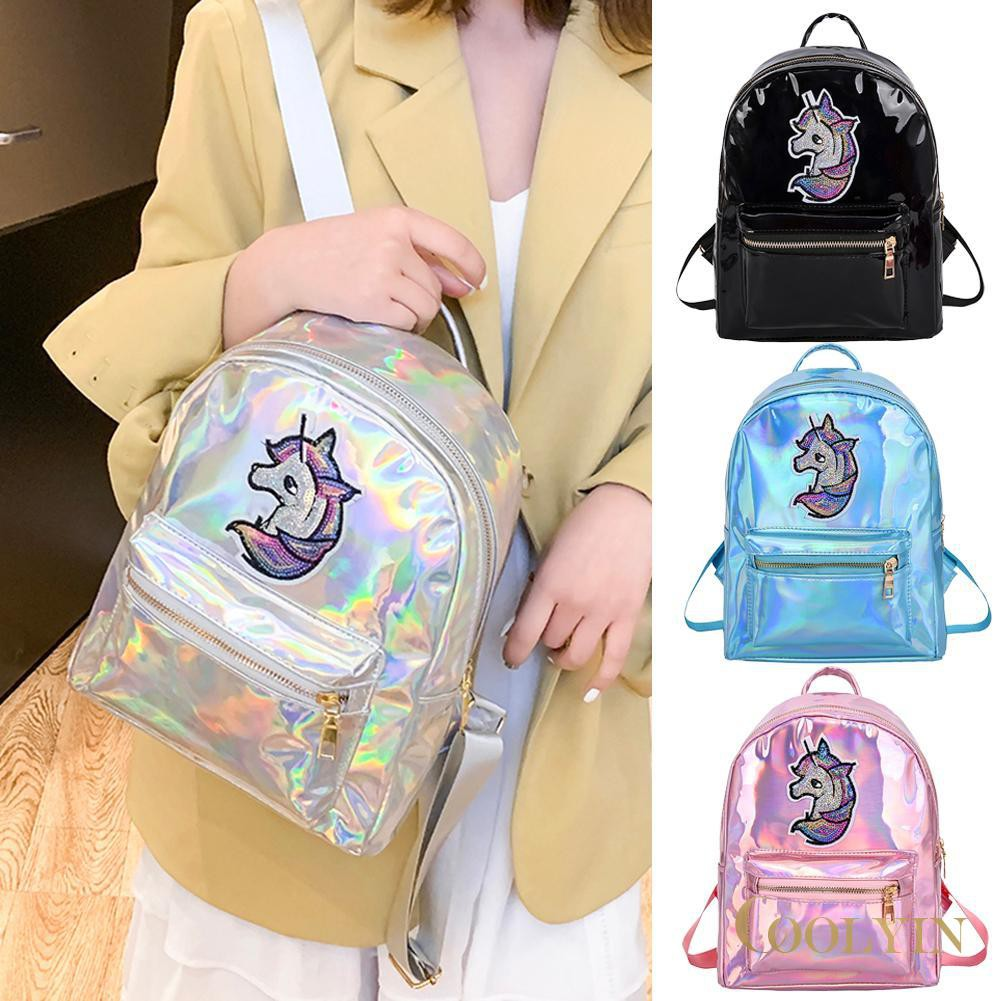 🍑Horse Print Travel Backpacks Women Laser Holographic