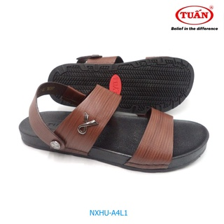 Sandal nam da bò cao cấp quai hậu xoay thương hiệu Tuấn NXHU-4L1