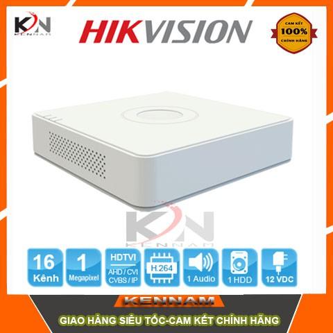 Đầu ghi hình Camera 4 kênh chuẩn HD Hikvision DS-7104HGHI-F1 (Trắng)
