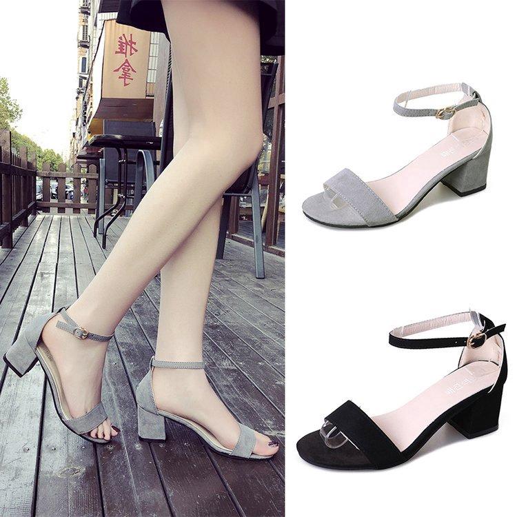 Giày sandal nữ đế xuồng hở ngón phong cách Hàn Quốc