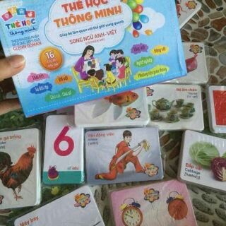 🤗🤗Bộ thẻ học 16 chủ đề 416 thẻ học thông minh cho bé. Hàng Bibo nhé cả nhà 🔰Bộ thẻ học thông minh thiết kế song ngữ..