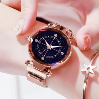 Đồng hồ thời trang nữ Huans 4 cườm dây lưới nam châm J776