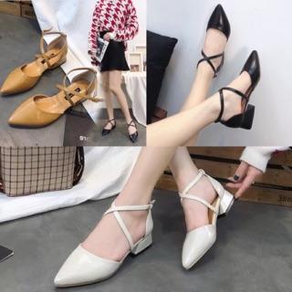 Giày 3 phân dây chéo
