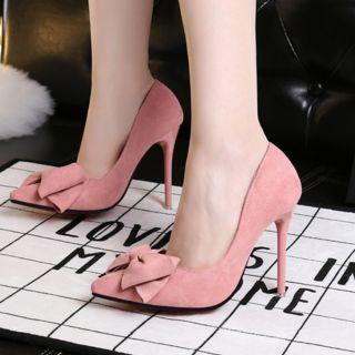 Giày cao gót nơ hàng order Quảng Châu cao cấp